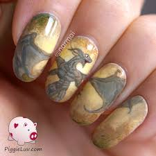 piggieluv earth dragon nail art