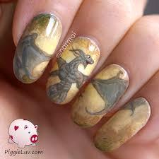 piggieluv earth dragon nail art