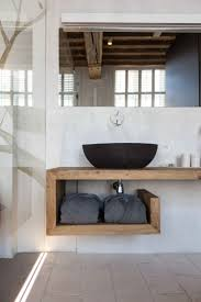 All Wood Bathroom Vanities by Modern Rustic Inspiration From Belgium Features Exposed Ceilings