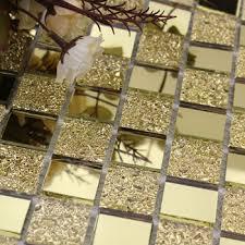 Mirrored Wall Tiles Mirror Tile Backsplash Golden Glass Mosaic Tiles Bathroom Mirrored