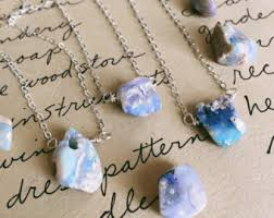 crystal necklace etsy images Raw opal necklace etsy jpg