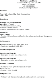 high school resumes resumes for high schoolers high school student sle resume for