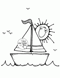 small sailboat coloring page for kids transportation coloring