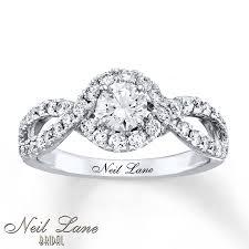 Neil Lane Wedding Rings by Kay Neil Lane Engagement Ring 1 1 8 Ct Tw Diamonds 14k White Gold