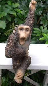 kitschy home decor 1978 universal statuary chimpanzee vintage chimpanzee figurine