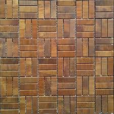 Copper Tiles For Kitchen Backsplash Brushed Copper Mosaic Tile Backsplash Kitchen Bathroom Wall