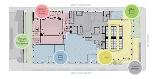 house plan bank of america tower obp ground floor labels