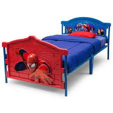 boys 3d spiderman twin bed frame kids girls bedroom furniture