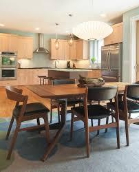 scandinavian kitchen kitchen modern with black leather seats high