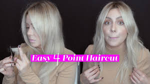 hair cut with a defined point in the back easy 4 point haircut for healthy looking hair youtube