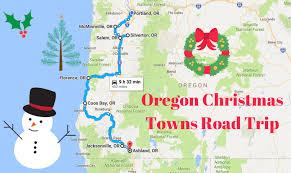Oregon Beaches Map by The Magical Christmas Towns Road Trip Through Oregon