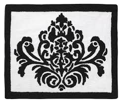 Damask Rugs Isabella Black And White Damask Print Floor Rug Jojo Designs