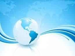 Light Blue Planet Ppt Backgrounds 3d Blue Business Grey White Blue Ppt