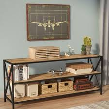 Natural Wood Bookcases Industrial Bookcases Birch Lane