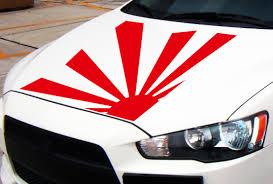 Japanese Flag Rising Sun Buy 4x Rising Sun Japan Flag Jdm Turbo Race Stance Low Drift Car