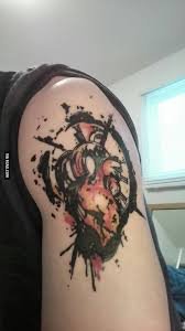 just got a new tattoo after my open heart surgery 9gag