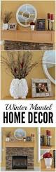 winter mantel decor ideas white and red accents