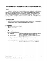 all worksheets classification of chemical reactions worksheet