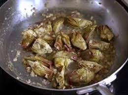comment cuisiner les artichauts artichauts poivrade recette d artichauts poivrade sautés