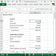 Exles Of Sheets by Create A Balance Sheet With Excel Excel