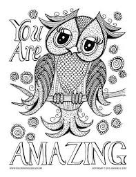 Free Adult Owl Coloring Pages Colouring To Amusing Page Coloring Pages Owl