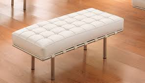 White Leather Ottoman Amazing Moroccan Leather Ottoman Mediterranean Footstools And