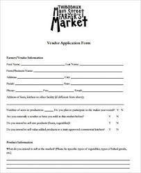 sample vendor application form 9 examples in word pdf