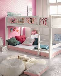 White Girls Bedroom Furniture Bedroom White Green Girls Loft Bed With Drawers And Shelf For