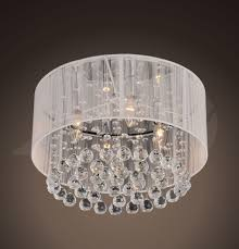 Chrome Crystal Chandelier by Jenna 4 Light Chrome And White Crystal Ceiling Mount Chandelier 9