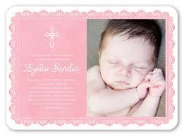 delicate lace 5x7 invitation card baptism invitations
