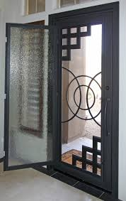 abstract iron entry door by first impression security doors