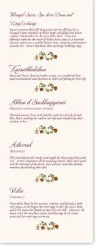 indian wedding program template 72 best ceremony traditions images on marriage hindus