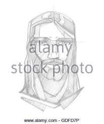 hand drawn sketch illustration of jesus christ hanging on the