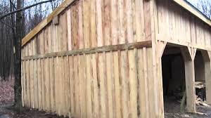 pole barn continuing on the board u0026 baton siding and working on