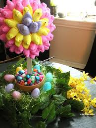 Easter Table Decorations With Peeps by 177 Best Holidays Easter Trees U0026 Wreaths Images On Pinterest