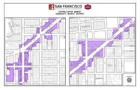 San Francisco Districts Map castro upper market office of economic and workforce development