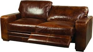 Leather Reclining Sofa Elegant Leather Couch Recliner With Reclining Sofas Blake Walnut