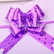 pull bow ribbon 100 pcs purple large big size 76 5cm pull bow ribbon flower gift