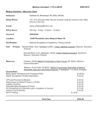 Resume Medical Assistant Examples by Objective Resume For Medical Assistant Free Resume Example And