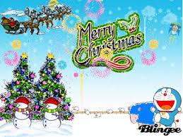 doraemon 1st christmas picture 36166189 blingee