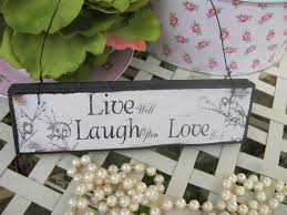 live laugh love signs vintage wooden shabby chic live laugh love hanging sign plaque