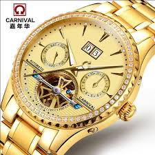 amazon best sellers best mens watches 2016carnival automatic mechanical watch diamond full steel sapphire