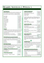 Hair Salon Price List Template Free Hair Price List Template Price List Template 6 Price Lists For