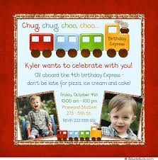 train birthday invitation cute photos choo choo engineer