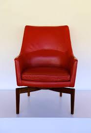high back leather swivel lounge chair by jens risom u2014 home