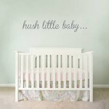 Nursery Wall Decal Hush Baby Wall Quote Decal