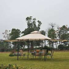 Gazebo For Patio by Outsunny 10 U0027x10 U0027 Gazebo Canopy Party Tent Outdoor Sun Shelter