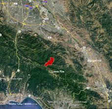 Map San Jose by Loma Fire Causes Evacuations South Of San Jose Calif U2013 Wildfire