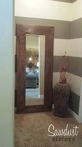 Wood Mirror Frame Diy Floor Length Mirror Frame Tutorial Sawdust Sisters