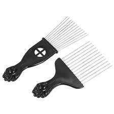 afro comb online shop 2pcs insert afro hair pik mental comb